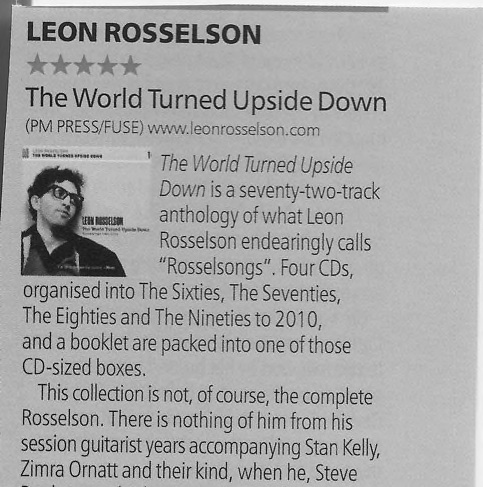 R2 Magazine review Leon Rosselson
